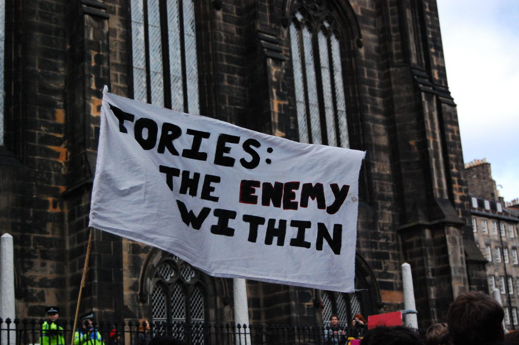 Tories: The enemy within. Within what though? The UK? NUS? Oursevles?