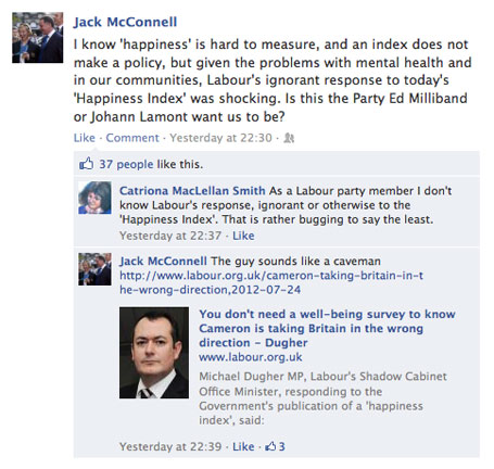 Jack McConnell on Labour's response to the Measuring National Wellbeing Programme