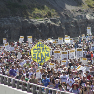 Anti-coal seam gas (known in the UK as coal-bed methane) protest in Australia.