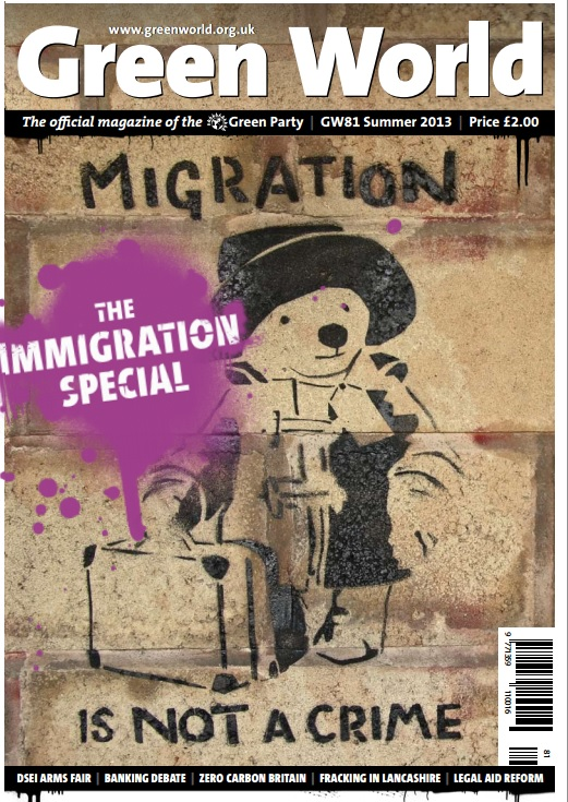 Front cover of Green World #81 - Migration Is Not A Crime