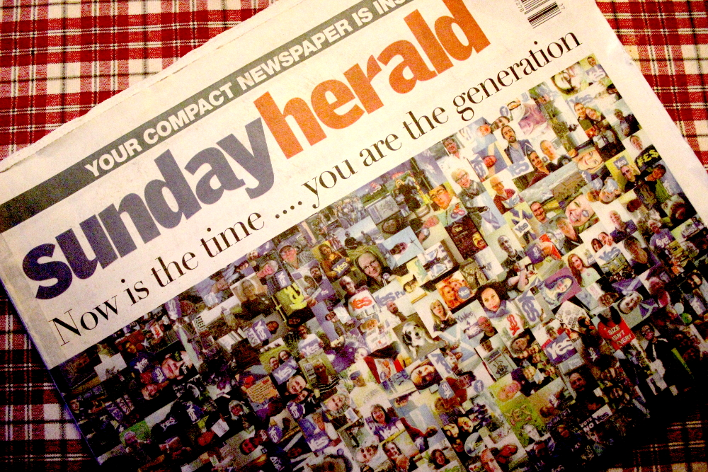 Copy of the Sunday Herald.