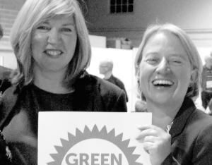 Alison Johnstone and Natalie Bennett