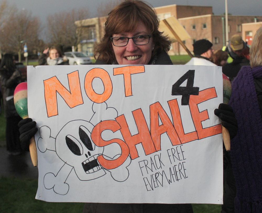 """Note 4 Shale"" placard."