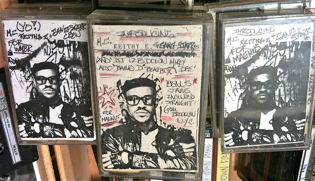 Picture of tapes by M.C. KEITHY E. and GANG STARR.