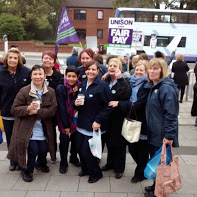 UNISON members on strike at Salford Royal hospital
