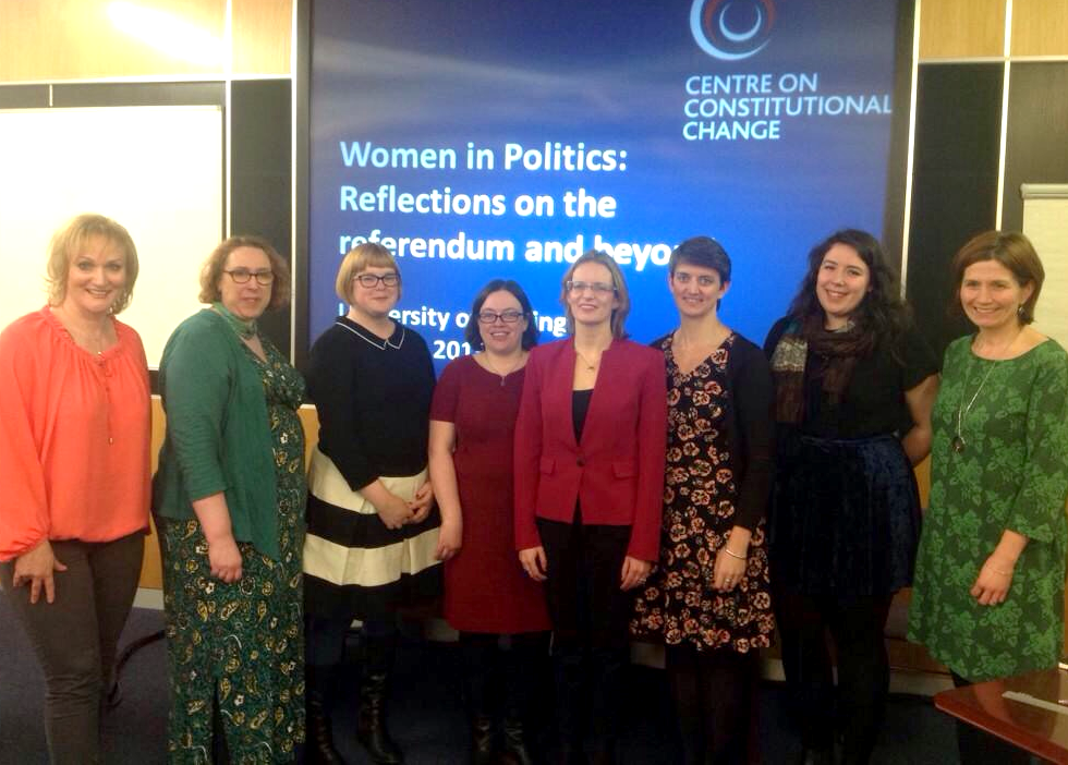 Panel at the Centre on Constitutional Change's discussion event at Stirling University on Women in Politics this week.