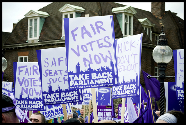 Politics has changed a lot since the 2011 AV referendum. We need real PR. (CC lewishamdreamer, flickr)