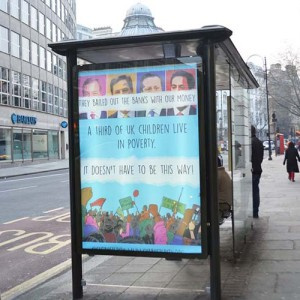 UK Uncut hit central London with DIY election 'subvertising' campaign