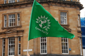 A Green Party flag