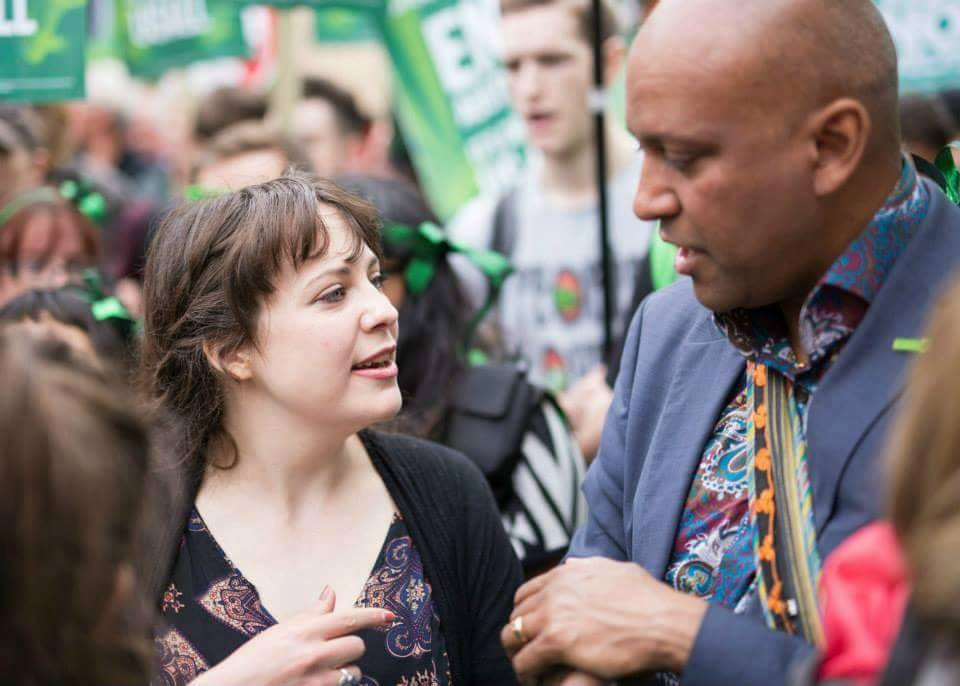 Current Deputy Leaders Amelia Womack and Shahrar Ali. Photo provided by Shahrar Ali