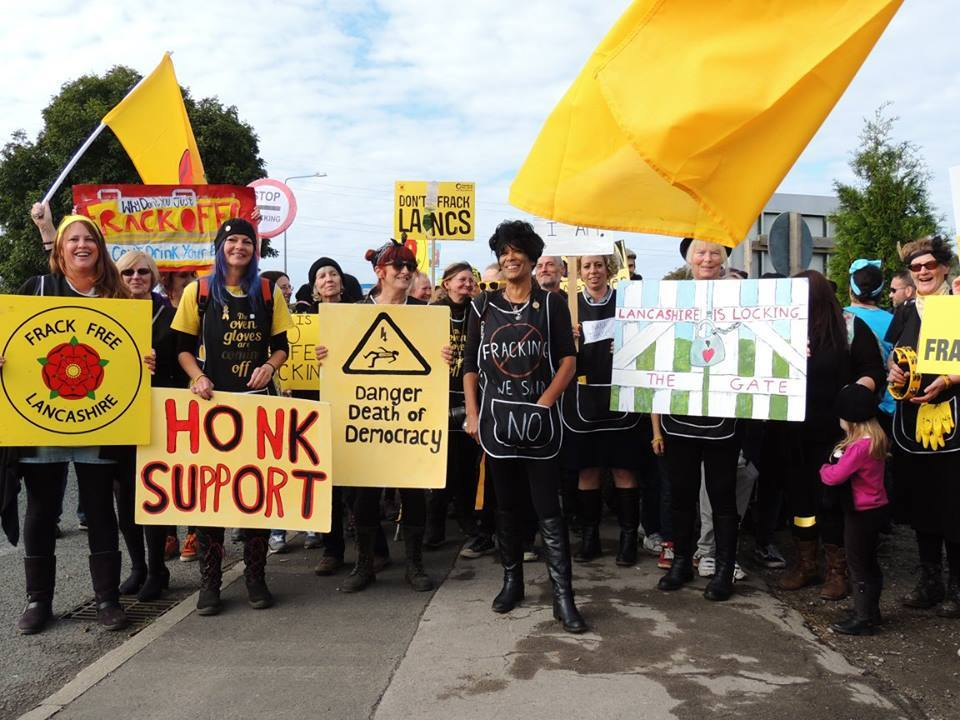 The Frackfree Lancashire team. Photo credit: Cheryl Atkinson and Ros Wills
