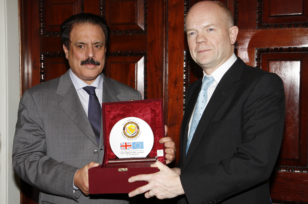 William Hague with the Gulf Cooperation Council secretary