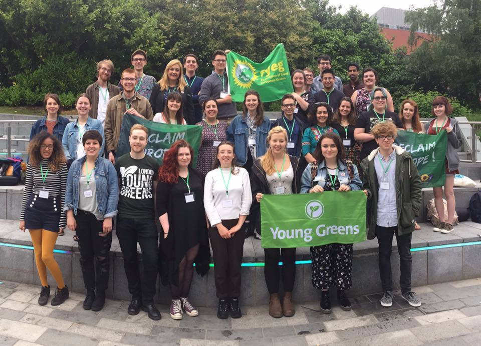 Members of the Young Greens. Credit: Young Greens