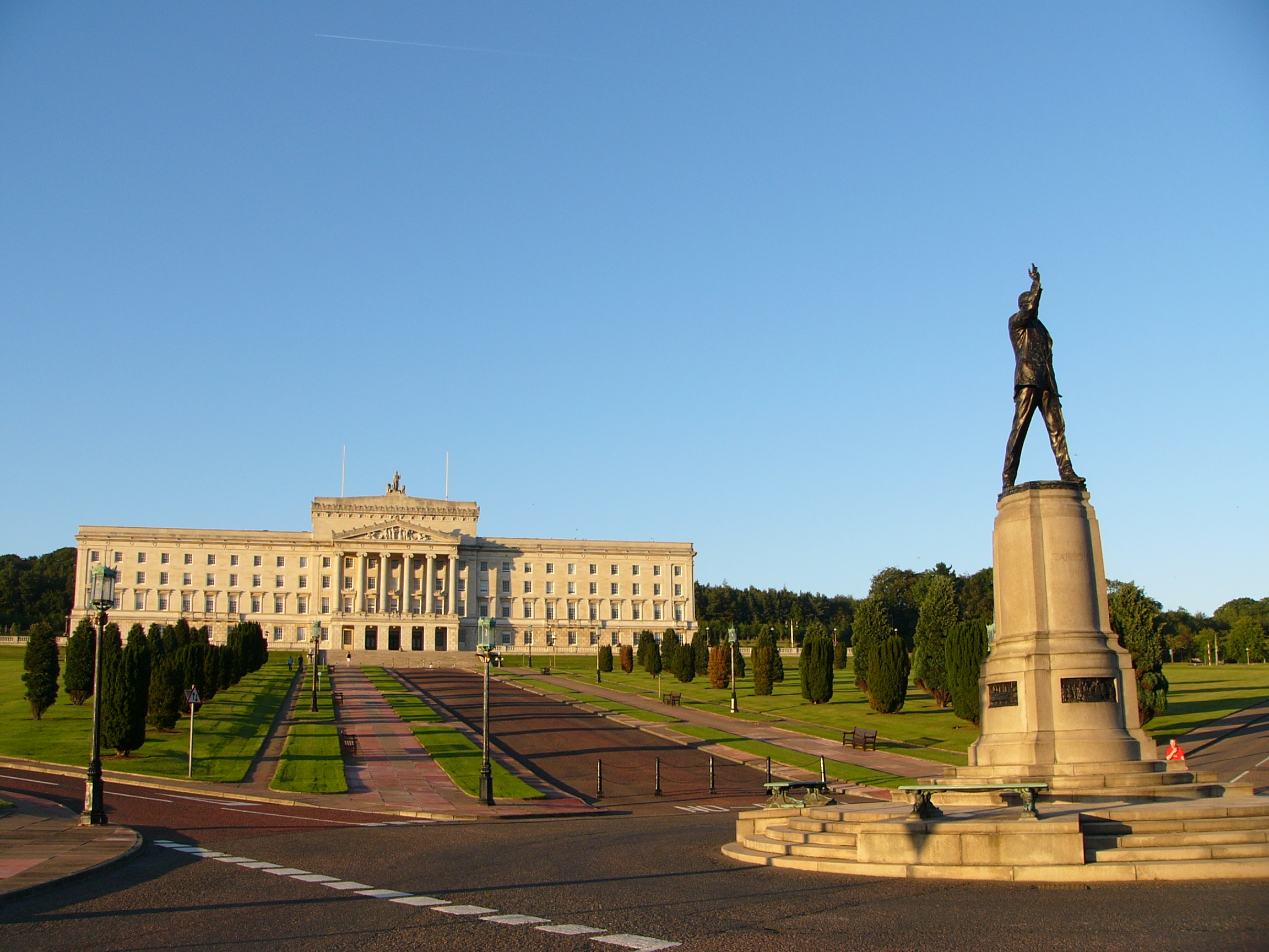 Stormont, home of the Northern Ireland Assembly. Photo credit: flickr user Robert Young http://tinyurl.com/y8wzlvju Creative Commons license https://creativecommons.org/licenses/by/2.0/