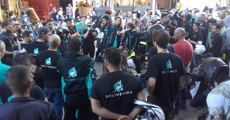 Deliveroo courier protest