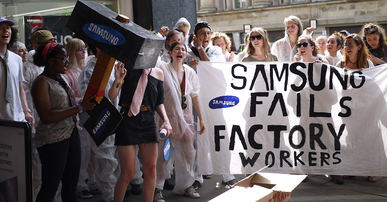 UK students to fight Samsung's labour rights abuses