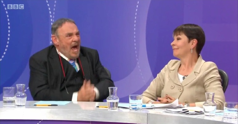 Caroline Lucas and John Rhys Davies on Question Time
