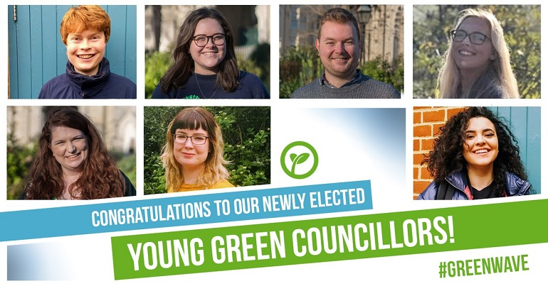 Newly elected Young Green councillors