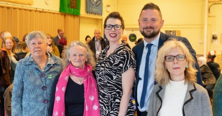 Brighton & Hove Green Councillors with Jenny Jones