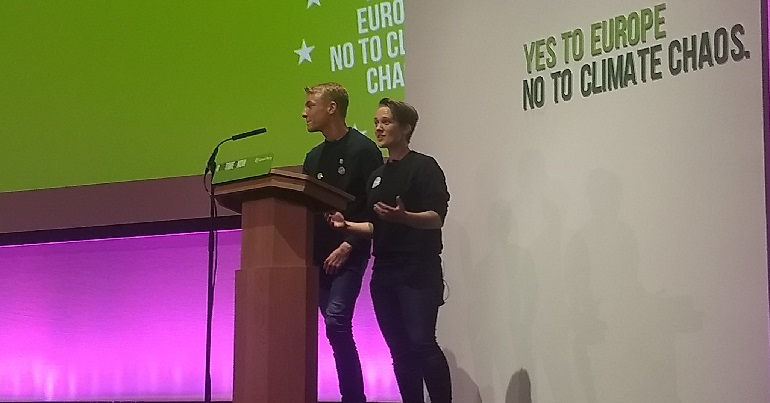 Young Greens co-chairs Rosie Rawle and Thomas Hazell