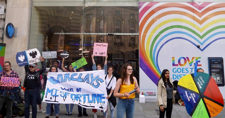 Student campaigners call for Barclays to be kicked off campuses for good