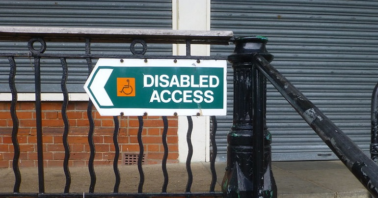 "Sign reading ""disabled access"""